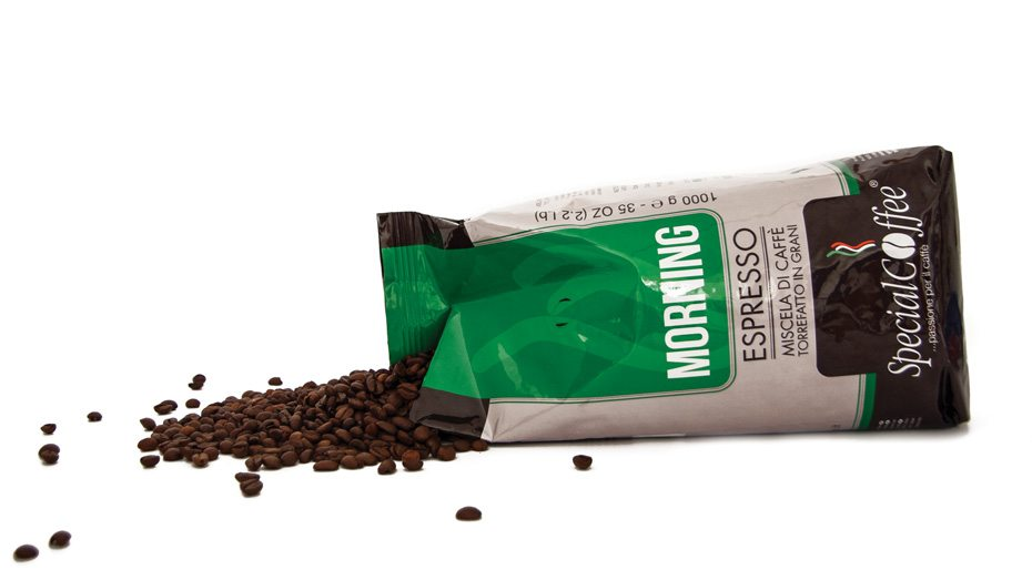 Morning: Caffè in grani per bar, vending e distribuzione automatica in confezione da 1 kg