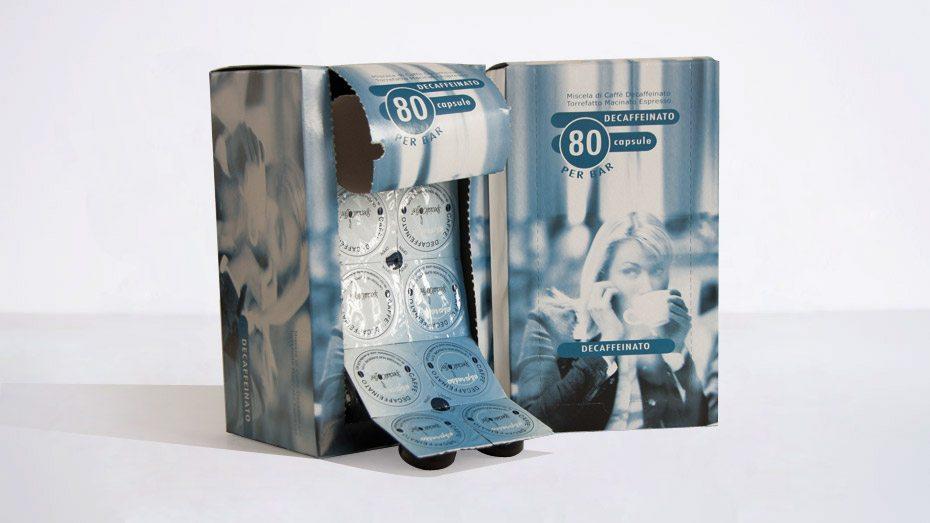 Caffè Decaffeinato Capsule Monodose Per Macchine Espresso Bar