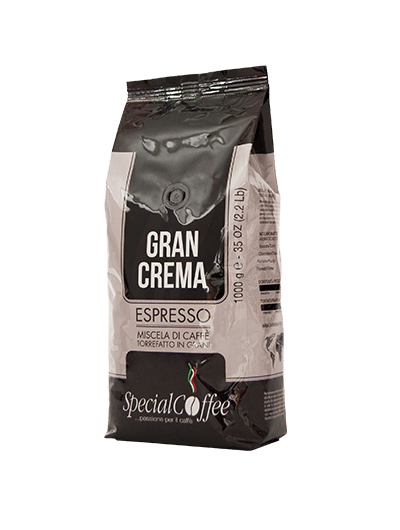 Gran Crema - Caffè in grani per macchine espresso bar e ristorante - confezione da 1 kg - Per una crema perfetta