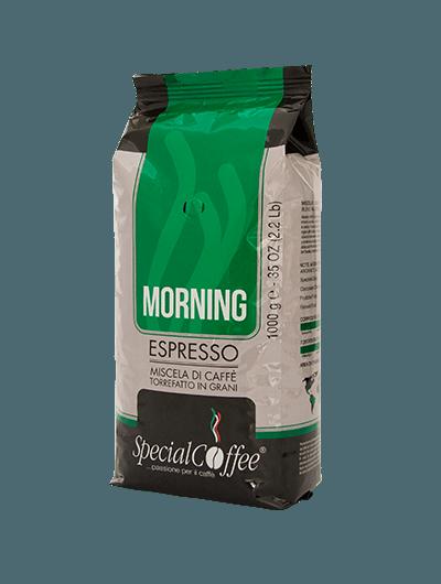 Morning - Caffè in grani per macchine espresso bar e ristoranti - in confezione da 1 kg - Per un cappuccino perfetto