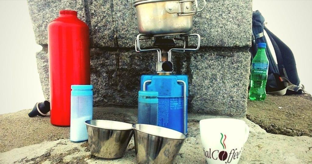 caffè da campeggio - making coffee while you are camping