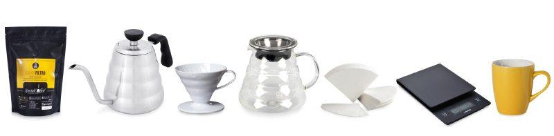 caffè filtro - attrezzatura per la preparazione