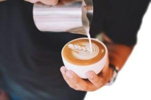 cappuccino con espresso - latte art