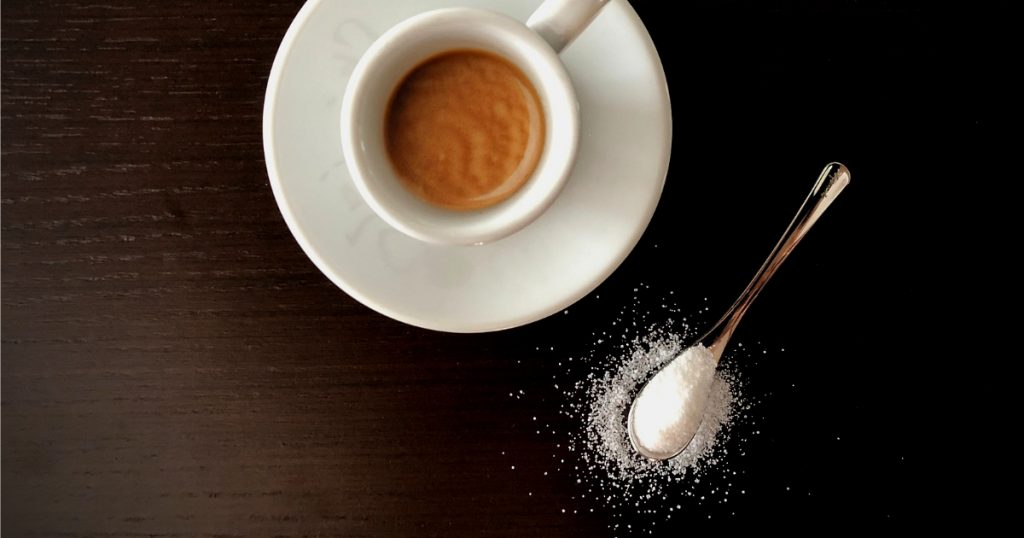 sugar in coffee